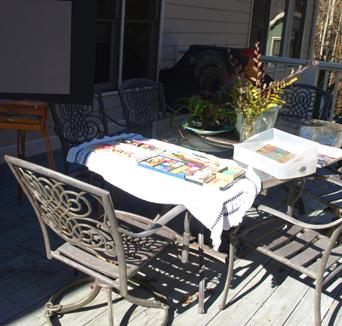 Back porch set up