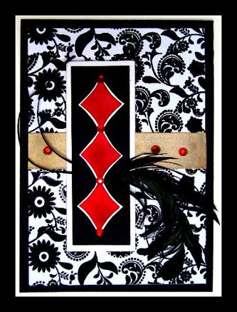 Brenda Black White Red